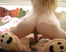 Novinha transando com o ursinho